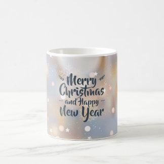 Caneca clássica elegante do Natal & do feliz ano