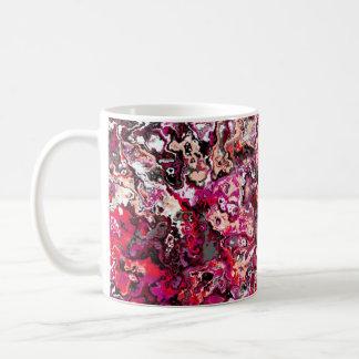 Caneca clássica floral de roda do desenhista do