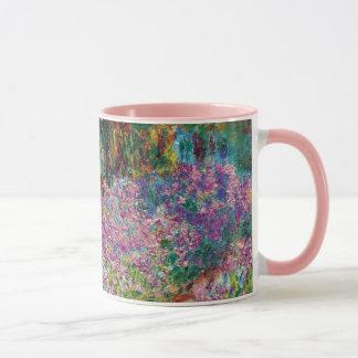 Caneca Claude Monet - íris em belas artes do jardim de