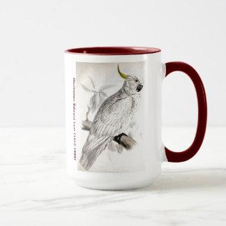 Caneca Cockatoo com crista do maior enxofre do pássaro de