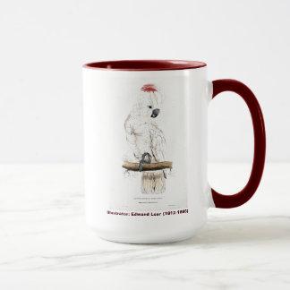 Caneca Cockatoo Salmão-Com crista do pássaro de Edward