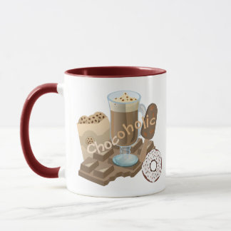Caneca Colagem do chocolate de Chocoholic