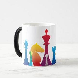Caneca colorida da xadrez