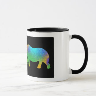 Caneca colorida do rinoceronte