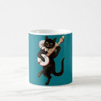 Caneca com a guitarra do vintage que joga o gato