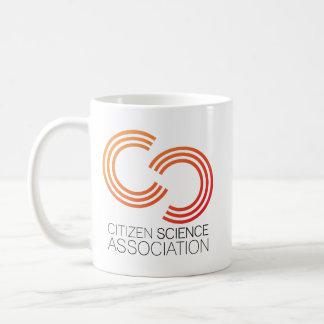 Caneca com logotipo da associação da ciência do