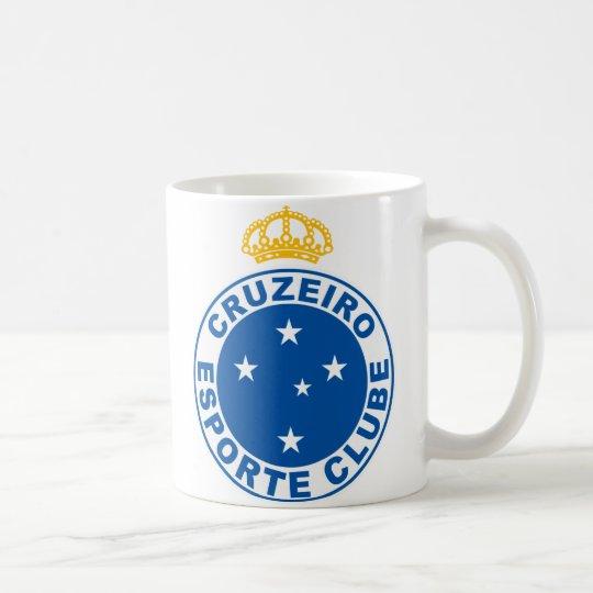 Caneca com o escudo do Cruzeiro