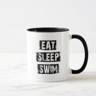 Caneca Coma a natação do sono
