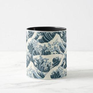 Caneca combinado - a onda de Hokusai