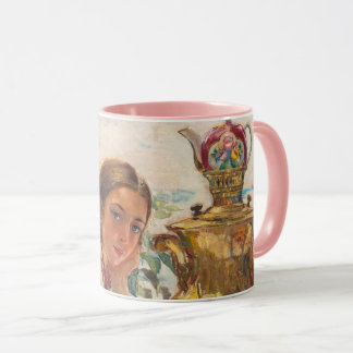Caneca combinado do tea party do russo