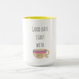 Caneca Começo dos bons dias com café