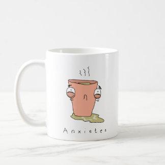 Caneca cómica engraçada do chá de Anxietea |
