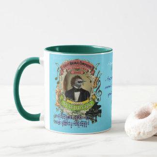 Caneca Compositor animal Franz Schubert do pássaro