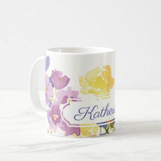 Caneca conhecida personalizada das flores