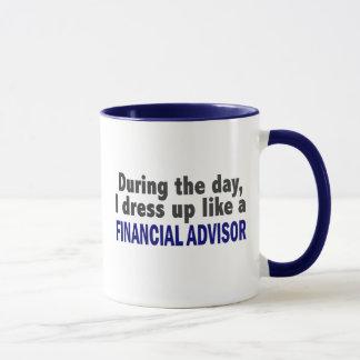 Caneca Conselheiro financeiro durante o dia