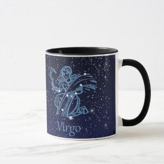 Caneca Constelação do Virgo e sinal do zodíaco com