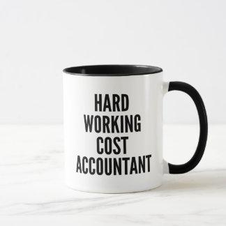 Caneca Contador de custo de trabalho duro