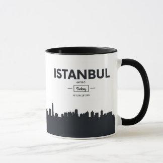 Caneca Coordenadas da cidade de Istambul, Turquia |
