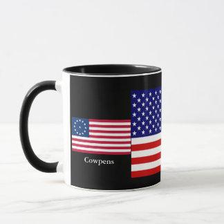 Caneca Copo combinado das bandeiras americanas