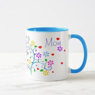 Caneca Copo da flor da mamã do feliz aniversario connosco