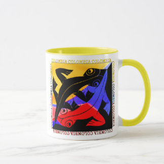 Caneca Copo de café colombiano do lagarto