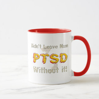 Caneca Copo de café cómico militar de PTSD