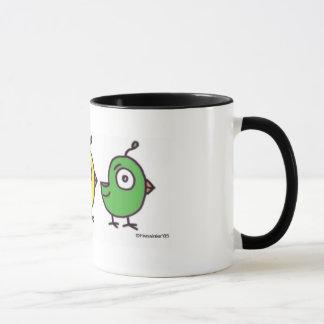 Caneca Copo de café pequeno de 3 passarinhos