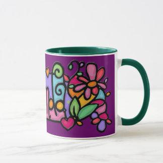 Caneca Copo de café pintado costume de AMANDA