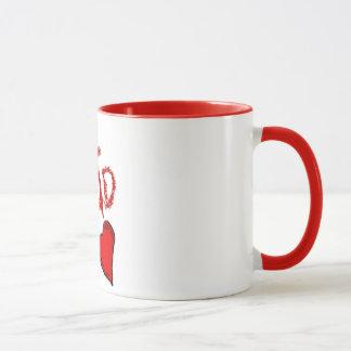 Caneca copo de café segurado vermelho do pai #1