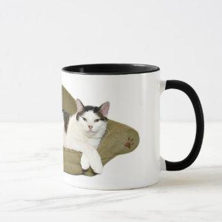 Caneca Copo do gato do viciado em televisão