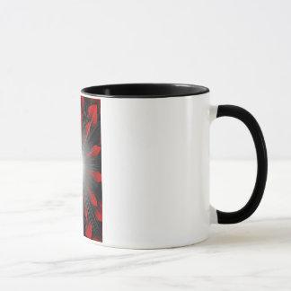 Caneca Copo vermelho de Cofee do Sunburst
