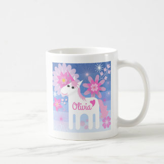 Caneca cor-de-rosa bonito Customisable do