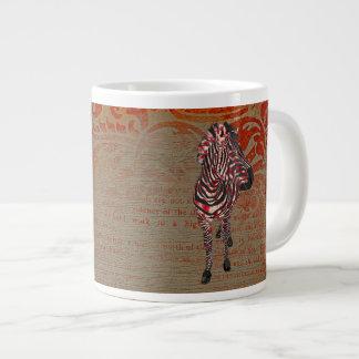 Caneca cor-de-rosa da zebra do ornamentado caneca gigante