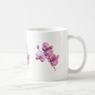Caneca cor-de-rosa das orquídeas