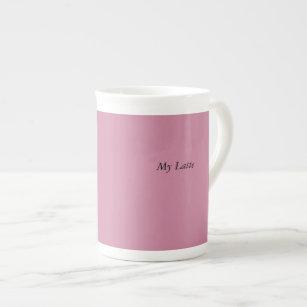 Caneca cor-de-rosa de Latte