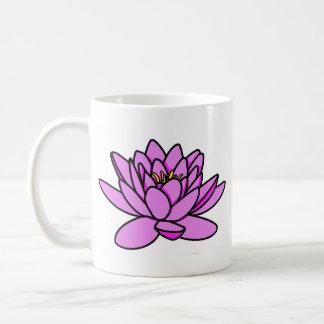 Caneca cor-de-rosa de Namaste da flor de Lotus