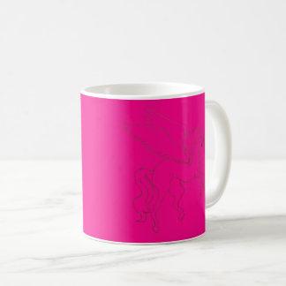 caneca cor-de-rosa de pegasus