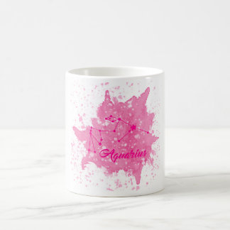 Caneca cor-de-rosa do Aquário