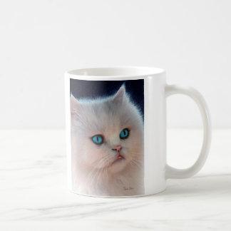 Caneca cor-de-rosa do desenho do gatinho