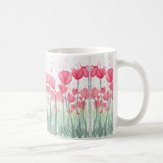 Caneca cor-de-rosa do espelho da tulipa da