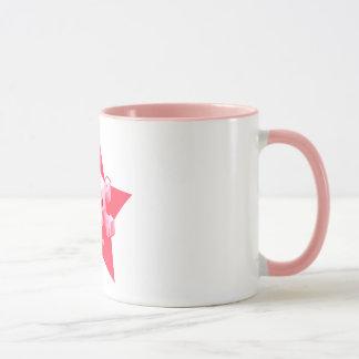Caneca cor-de-rosa do logotipo do jogo   de