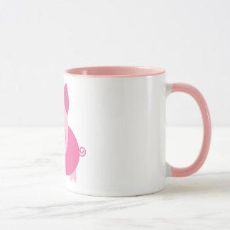 Caneca cor-de-rosa do porco