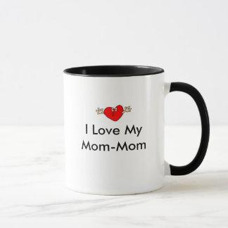 Caneca Coração-Beijar, eu amo minha Mamã-Mamã