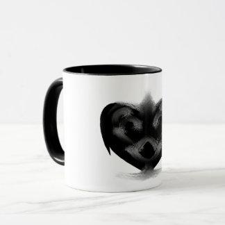 Caneca Coração preto