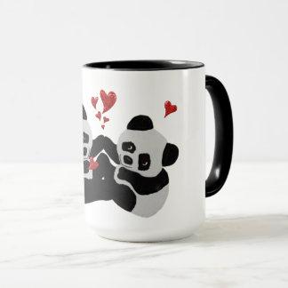 Caneca Corações preciosos da panda