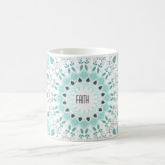 Caneca Customisable da mandala do art deco de