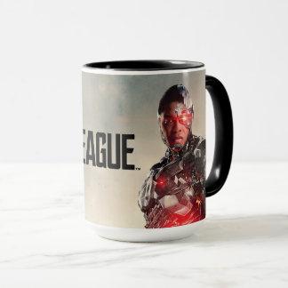 Caneca Cyborg da liga de justiça | no campo de batalha