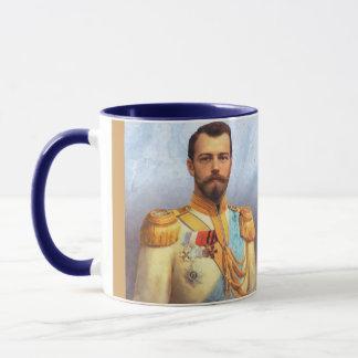 Caneca Czar Nicholas II do copo de Rússia