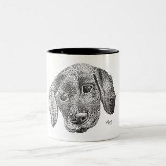 Caneca da arte do filhote de cachorro