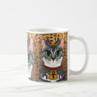 Caneca da arte do gato egípcio de Bastet da deusa